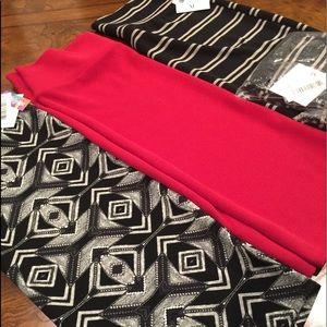3 XL LulaRoe Cassie skirts